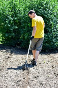 This clever tool helps make the process of planting very easy and quick.