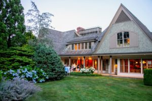 It was a warm, but beautiful night for entertaining, and this house was just minutes from my East Hampton home, Lily Pond. (Photo by Daniel Gonzalez for Business of Home)