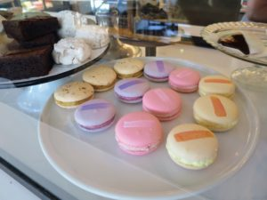 There were lots of delicious sweets including these colorful macarons.