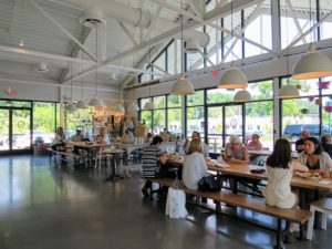 The cafe was very roomy and bright - a nice place to gather for breakfast, lunch and dinner on a hot summer day. It was a quick but very fun day in Georgia.