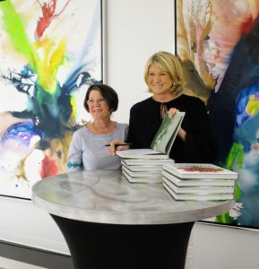 "Here I am posing with Helen while signing her copy of ""Martha's Flowers""."