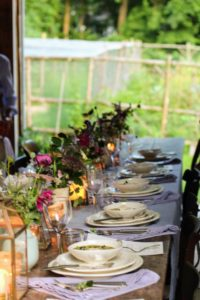 The table looked so wonderful - dressed with flowers Phoebe picked from her garden.