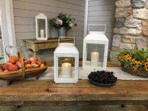 These lanterns add charm to any setting indoors or out. Each one comes with a remote control, and a lithium battery.