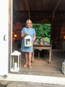 I also brought two lanterns from my collection at QVC. I will be on QVC today to talk about my flameless pillar candles - you will love them. Be sure to tune-in - I will be Tweeting all my appearance times on my Twitter page @MarthaStewart.