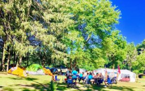 The camping grounds are nestled in the woods of Cuddebackville, New York, a hamlet within the town of Deerpark - the second largest town in Orange County.