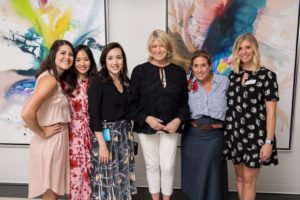 Here I am with the team from AmericasMart - Ali Fairchild, Stella Lee, Sarah Mount, Dana Andrew from Dana Andrew Communications, and Sarah Zeigler. (Photo courtesy of PWP Studio Corporate Event Photographers)