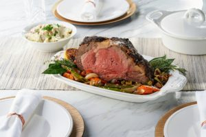 And I shared my juicy Black Angus prime rib from my friend, Pat LaFrieda. This prime rib roast gets encrusted with a dry rub of the best peppercorns, which are included. All your guests will love it.
