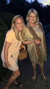 "Here I am with Liz - ""twinning"" it in our tan dresses."