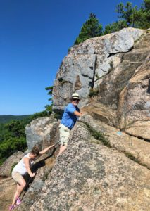 "There are two very steep ascents and narrow paths on Beehive, where one has to cling to the rock face. The trail is designated as ""strenuous"" and is only recommended for physically fit and experienced hikers who have no fear of heights. Everyone loved the challenge."