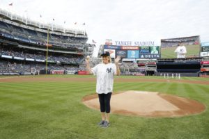 There was a lot of applause, but I was ready. (Photo by: New York Yankees)