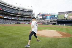 And here I am as I wind up and throw the ball - I take a big step back with my right foot. (Photo by: New York Yankees)