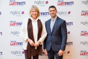 And here I am joined by Jonathan Lovitz, SVP of the NGLCC. (Photo by Rachel Stevenson/OUTCOAST Photography)