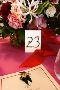 Here was my table - number 23.