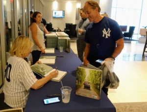 I have always loved baseball - it was great signing books and talking to other fans who share a love for baseball, and gardening.