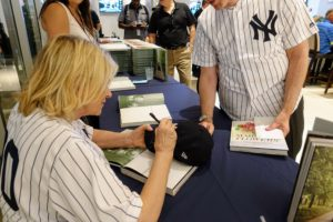 I was even asked to sign someone's Yankee baseball cap!