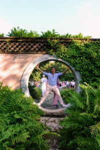 My friend, photographer Douglas Friedman, stepped into it next - he seemed to fit the circle a little better. Vitruvian Man was da Vinci's own reflection on human proportion and architecture. The purpose of the illustration is to bring together ideas about art, human anatomy and symmetry in one distinct image.