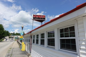 """After our morning at the New Hampshire Antiques show, we stopped for lunch at the popular Red Arrow Diner in Manchester. Its pledge: """"to create, cook and serve, with consistency and a smile, the most palate pleasing diner eats known to mankind."""""""