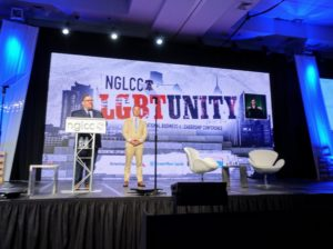 And then Justin and Chance introduced me for the award presentation. Past recipients of the NGLCC Champion of Enterprise Award include music legend Melissa Etheridge, former US Secretary of State Hillary Clinton, and Actress Judith Light - I was in great company.