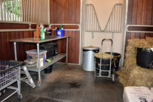 The spare stall is used for keeping various supplies – this was also emptied and cleaned.