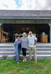 One of my favorite summer farm stand stops is at the Triple Chick Farm in Town Hill, Maine. Whenever I am in Bar Harbor, I always try to visit. Here I am with Cindy and Steve, who have been guiding Triple Chick Farm's operations for more than 20-years. http://triplechickfarm.com