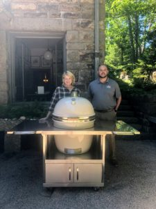 Here is my new Grill Dome from Southern Botanical. The round shape provides even heat distribution while the thick ceramic walls hold in the heat. Plus, you can have it custom colored, of course.