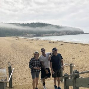 The next day, we went to Sand Beach, in Acadia National Park. Sand Beach is nestled in a small inlet between the granite mountains and rocky shores of Mount Desert Island. This gorgeous 290-yard long beach is one of the most popular points of interest on the island.