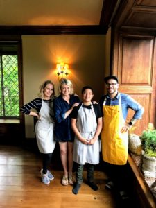 Here I am with Chefs Molly and Nick, and Federico - our chef in the making.