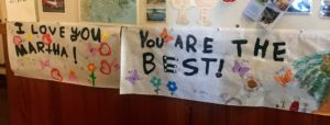 And my favorite gift of all was this sign made by my grandchildren. It was the perfect celebration.