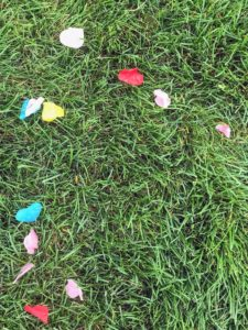 All the guests enjoyed the colorful confetti toss.