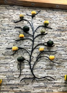And here it is in black on an stone wall - it looks great on any surface and in fall, it is so charming filled with pumpkins.