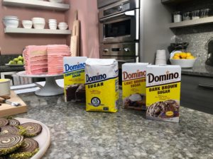 Always on hand - sugar from our longtime sponsor, Domino® Sugar. Domino's offers dark brown sugar, light brown sugar, confectioner's sugar and granulated sugar. I am sure you've all used their sugar over the years.