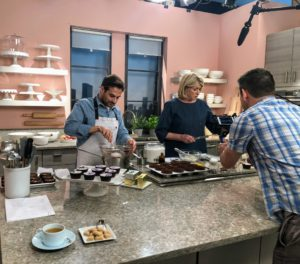 "Last month, we celebrated Season 10 of ""Martha Bakes"" on Facebook LIVE. I have an excellent group of people who work with me to create the shows you watch on PBS – chefs, stylists, producers, and our technical camera crew. Everyone works very hard. Here, Thomas Joseph and I are making cupcakes. If you missed it, go to my Facebook page to view."