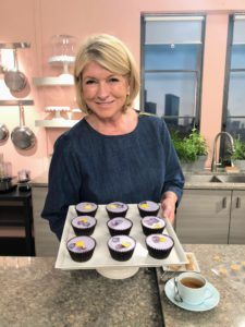 Here I am holding a tray of these gorgeous cupcakes - everyone on the crew loved them - so perfect for a summer treat.