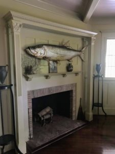 And here is another giant tarpon in the parlor above the fireplace. These taxidermy exhibits of animals are meant to teach, inspire and inform those who view them.