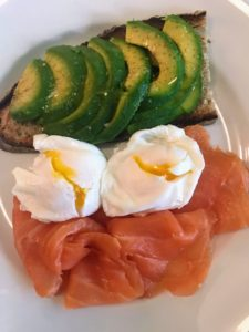 On one morning, we had salmon, poached eggs and avocado toast. Everything was always so fresh.