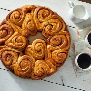 "Last week, we made this brown butter swirl pull apart bread - it was part of my ""breakfast pastries"" show. If you missed it, go to my web site for the recipe. https://www.marthastewart.com/1530741/brown-butter-pull-apart-bread"