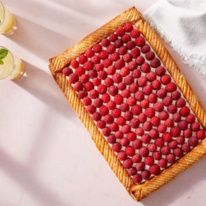 And you'll love our fruity puff pastry tarts - this one with red raspberries and mascarpone. It may look difficult to make, but I assure you, it is not. I will share how to make this patisserie-quality showstopper your family and friends will love!