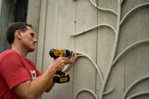 The trees are easy to install on any kind of wall - wood, plaster, and even concrete.