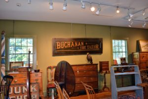 Tucker's shop has many treasures including William and Mary, Queen Anne, Chippendale, and Federal period furniture and accessories.