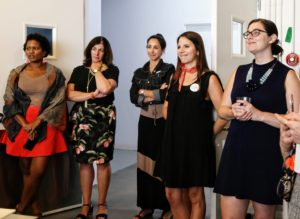 Here are members of our own team looking on and ready to answer any questions - Tanya Isler, Carolyn D'Angelo, Stella Cicarone, Rachel Stewart, and Lisa Walsh. (Photo by Laura Manzano)