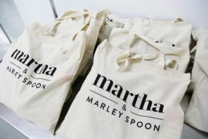 "Each attendee received a gift bag as they left. We love using light, canvas totes, that everyone can use again and again. Inside each tote attendees received Martha & Marley Spoon vouchers, a discount voucher for Martha Stewart Wine Co., a Martha Stewart Collection square ladle from Macy's, a September issue of ""Martha Stewart Living"", a signed copy of ""Martha Stewart's Pressure Cooker"" and a bag of Kame Chuka soba curly noodles. (Photo by Laura Manzano) goo.gl/BF2AGR"