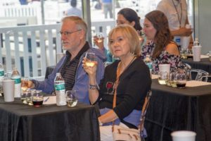 Guests were able to sit at tables and enjoy the wines offered for the tasting. It was a very fun and informative and session. (Photo by Richard Formicola)