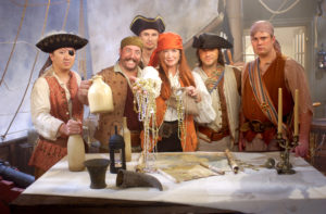 Ahoy, Matey! It's Red Pirate Martha and a crew of ship rats! As always, my crew got into the spirit - this time on our pirate ship themed Halloween episode.