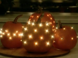 "I've demonstrated numerous pumpkin decorating ideas over the years. Our ""Celestial Pumpkins"" are truly beautiful, bringing festive lighting to an indoor or outdoor autumnal display."