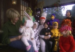 Many viewers have asked me to offer this very early episode. It features adorable no-sew children's costumes.