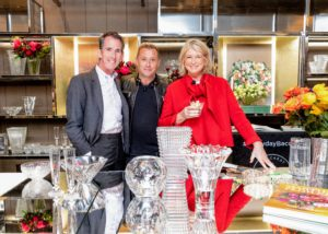 Kevin and I posed with Jim Shreve, the President and CEO of Baccarat North America. (Photo by Benjamin Lozovsky for BFA)