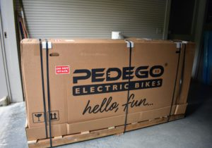Not long ago, my delivery from Pedego arrived at the farm.