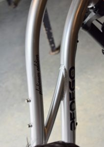 Pedego bikes are also built with a cruiser frame geometry so riders are always sitting upright. I love this lustrous and modern silver finish.