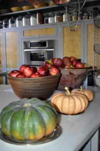 Inside my kitchen are big bowls filled with some of the apples we picked this season. See my Instagram page @MarthaStewart48 to find out what I did with them over the weekend.