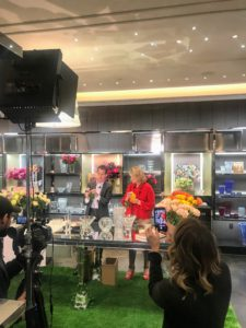 Kevin and I also participated in a Facebook Live with Jim Shreve for Baccarat. He introduced us and we talked about the event before Kevin and I made five different flower arrangements using roses from BloomsyBox.